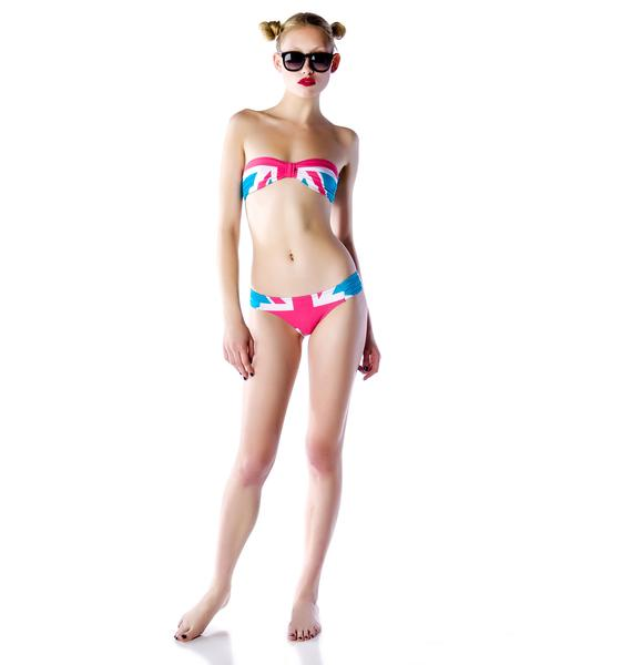 Wildfox Couture Union Jack Ivana Kiss Bikini Set