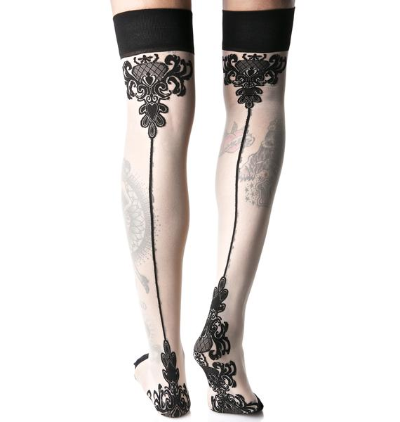 Ornate Things Thigh-Highs