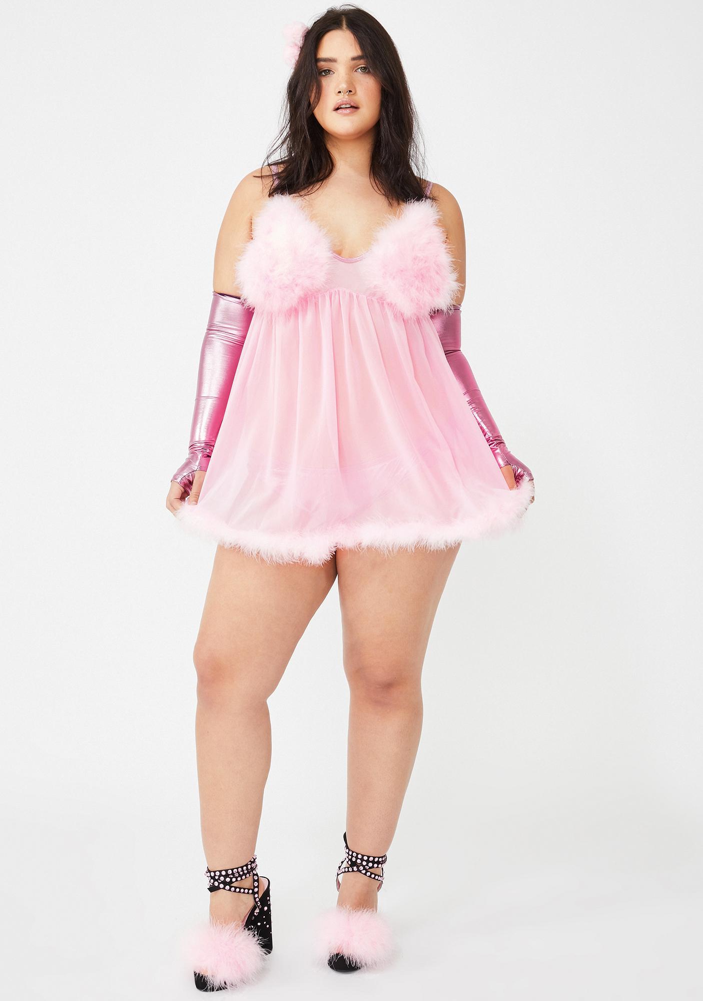 Dolls Kill Sweet Total Fembot Babe Costume Set