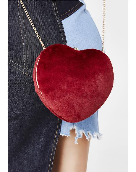 Heartbeatz Fuzzy Purse