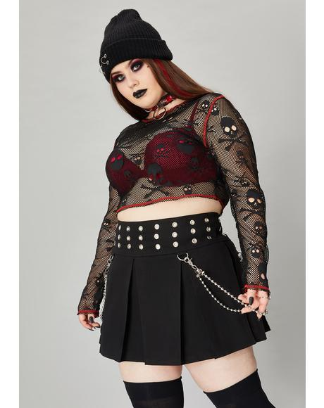 Everything Meant For Dread Mini Skirt