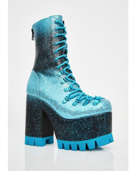 Lucid Dreamer Glitter Boots