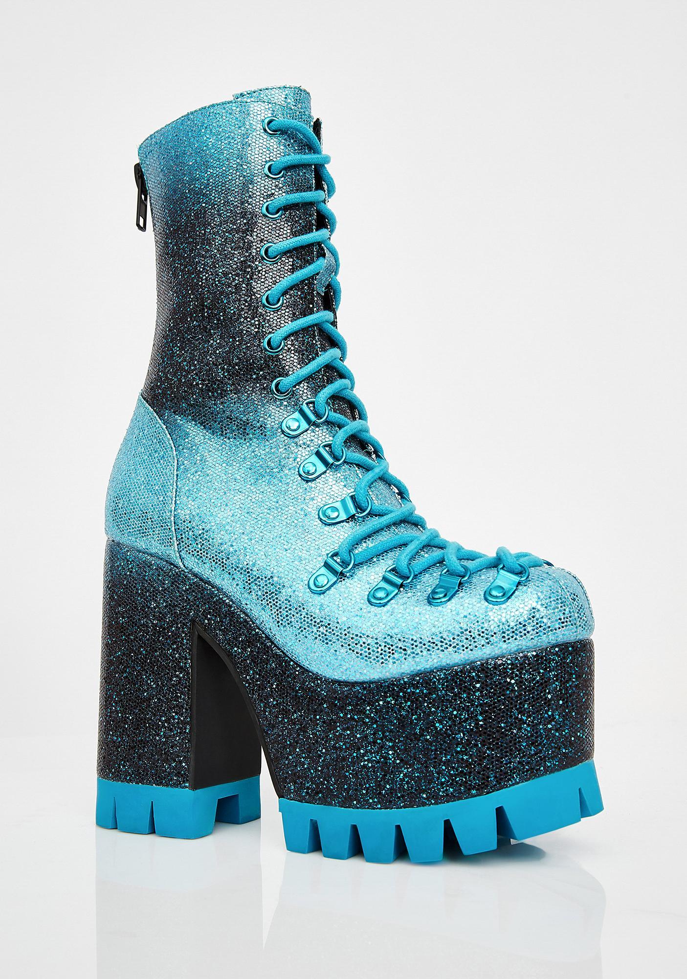Club Exx Lucid Dreamer Glitter Boots