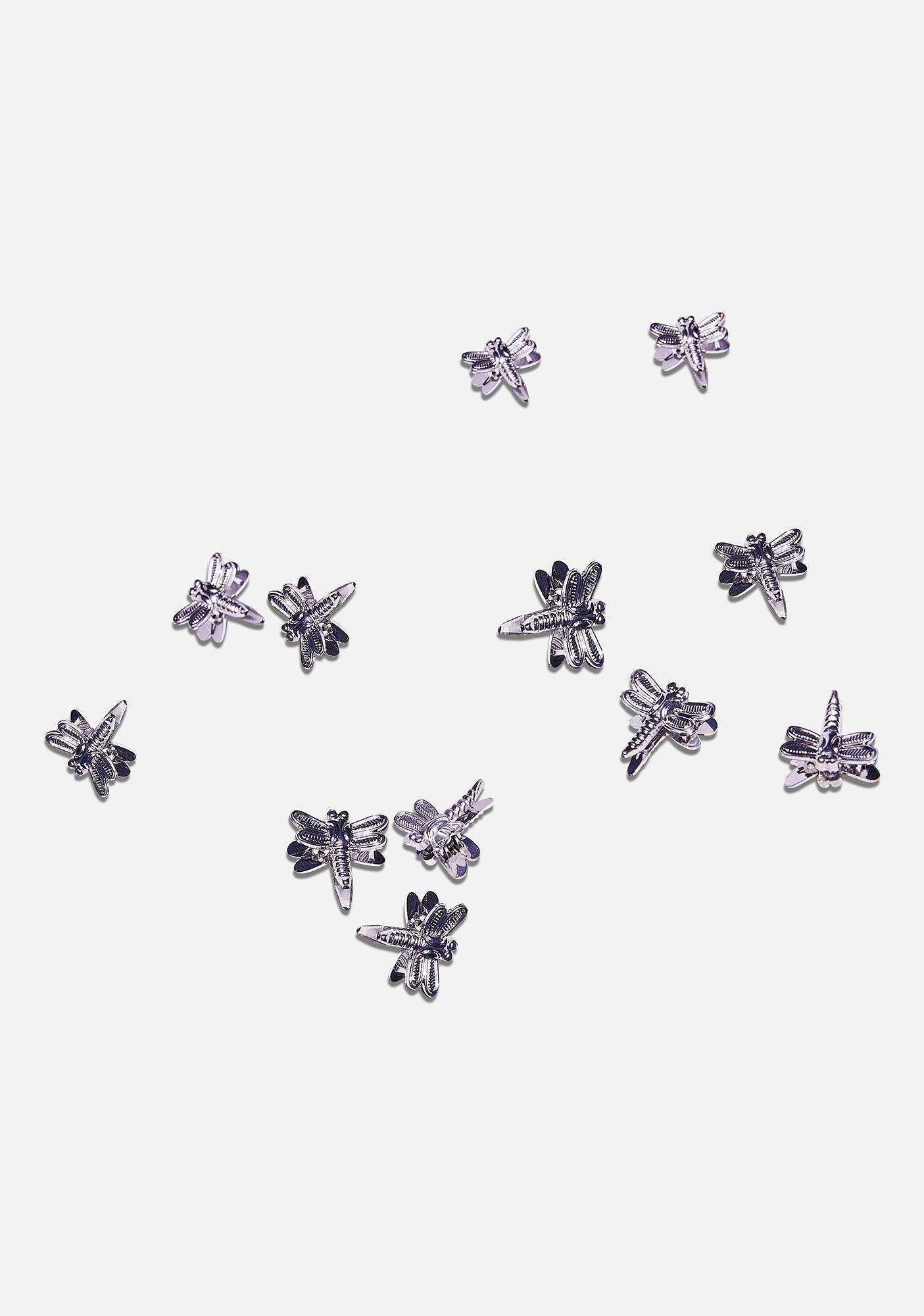 Good Times Eyewear Silver Dragonfly Hairclips