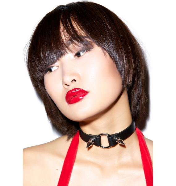 Club Exx Baby Spiked Fiend O Ring Choker