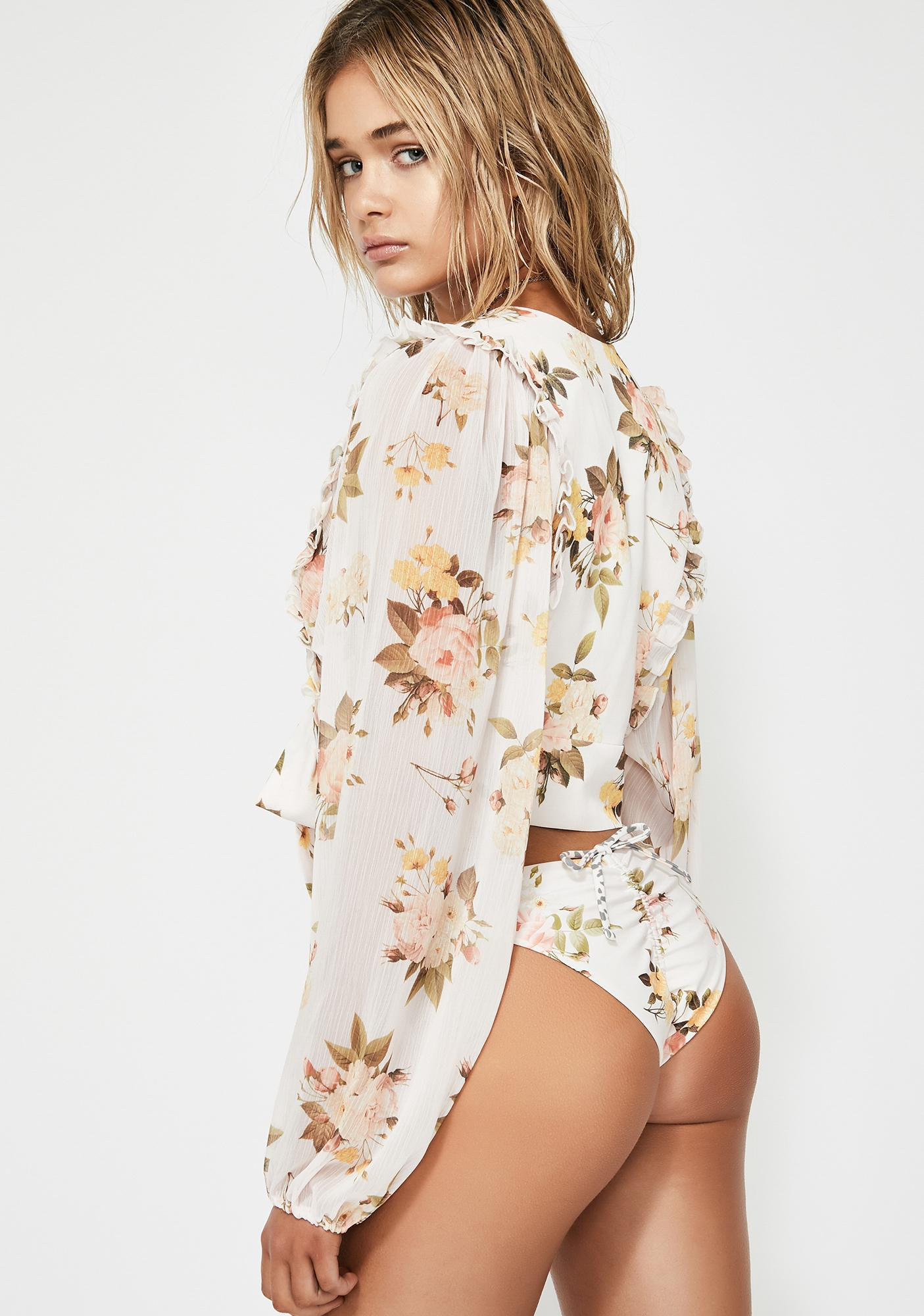 Power 2 the Flower Maya Crop Top