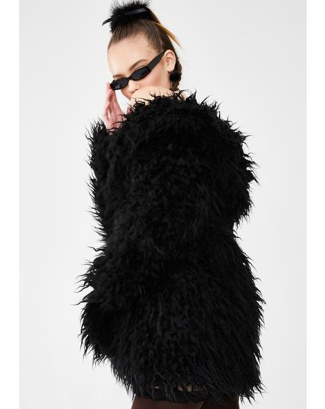 Fame Monster Faux Fur Coat