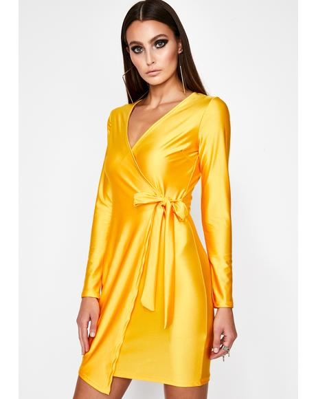 Honey Dinner Date Wrap Dress