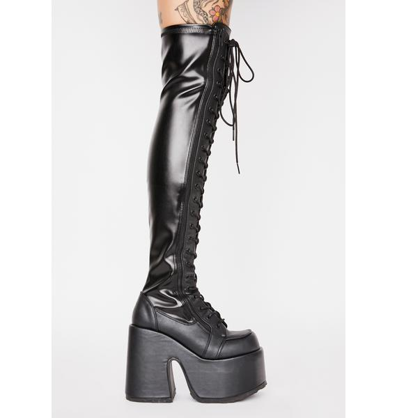 Demonia Rave Royalty Thigh High Boots