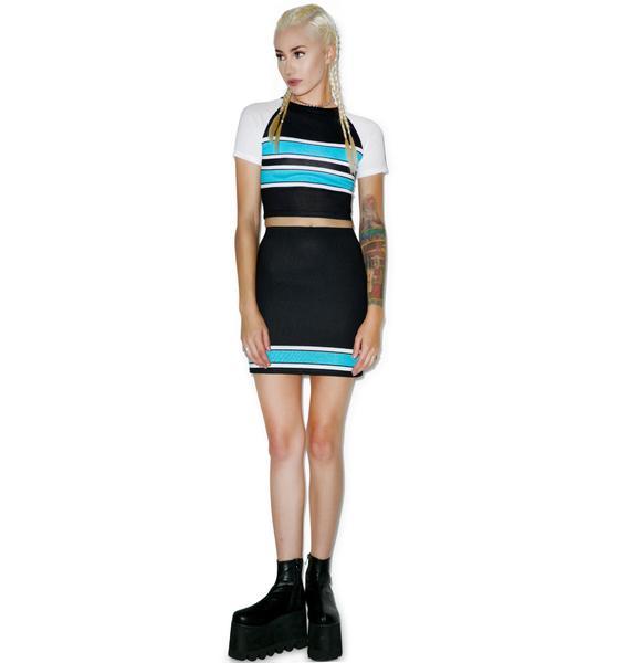 Varsity Bluez Bodycon Skirt