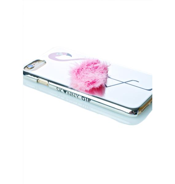 Skinnydip Flamingo Fluff iPhone Case