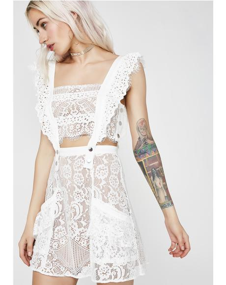 Tati Pinafore Lace Dress