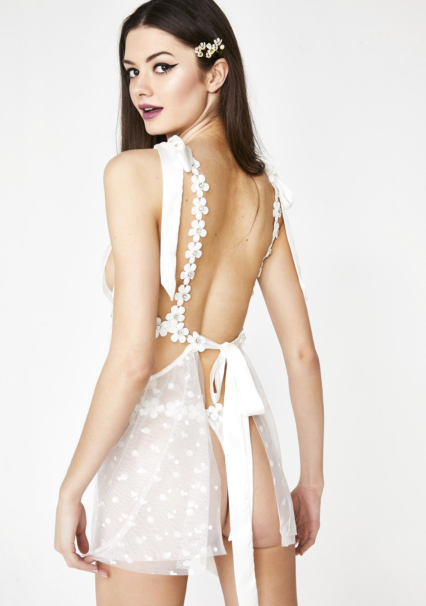 For Love & Lemons Marguerite Tie Bra With Removable Dress