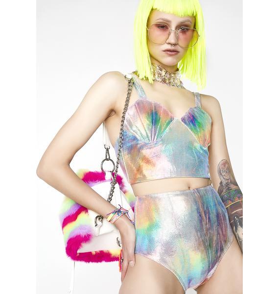 Margarita Mermaid Rainbow Glow Mermaid Bikini Top