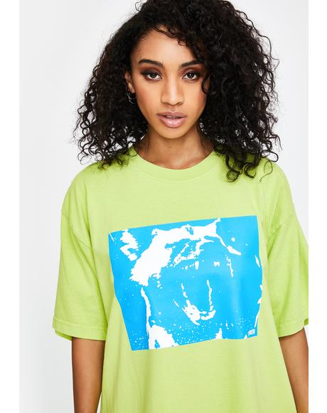 Bright Lime Mixed Up Graphic Tee