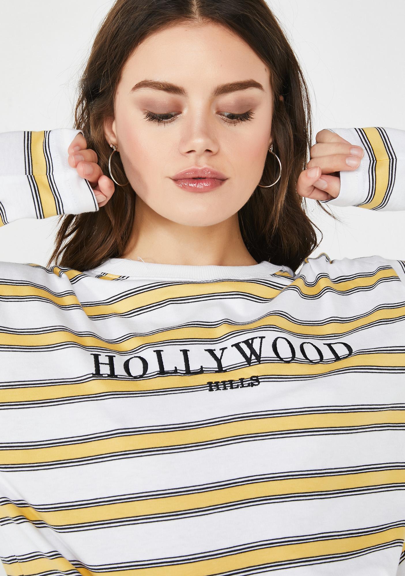 Daisy Street Hollywood Hills Stripe Tee