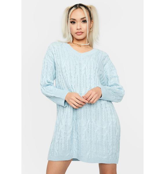 Sky Cuddle Weather Sweater Dress