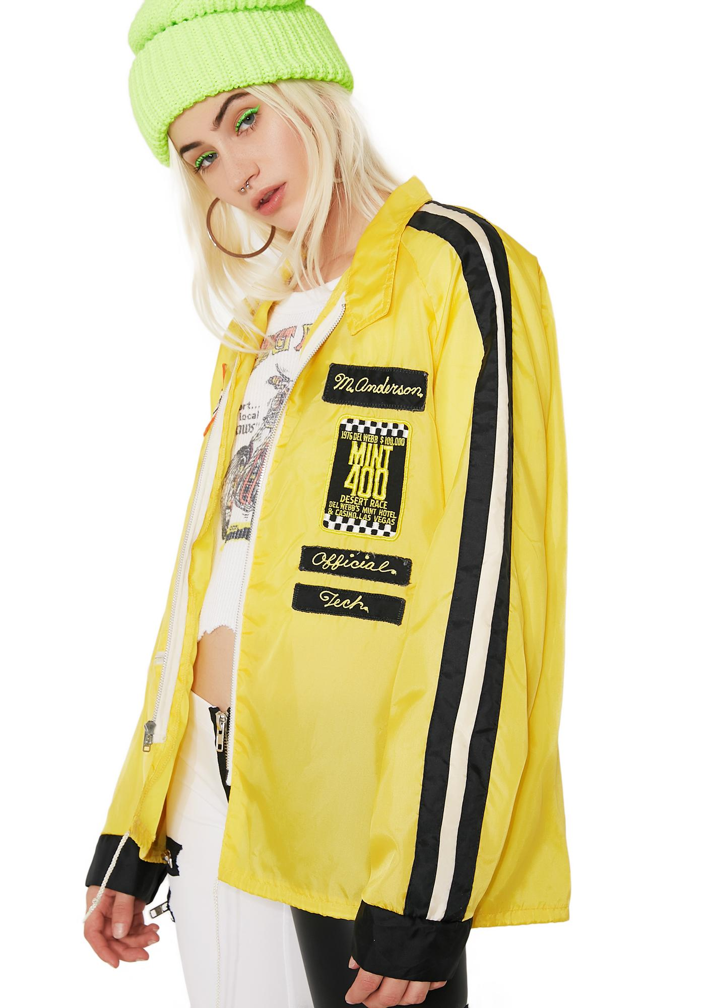 Vintage Yellow Racing Jacket