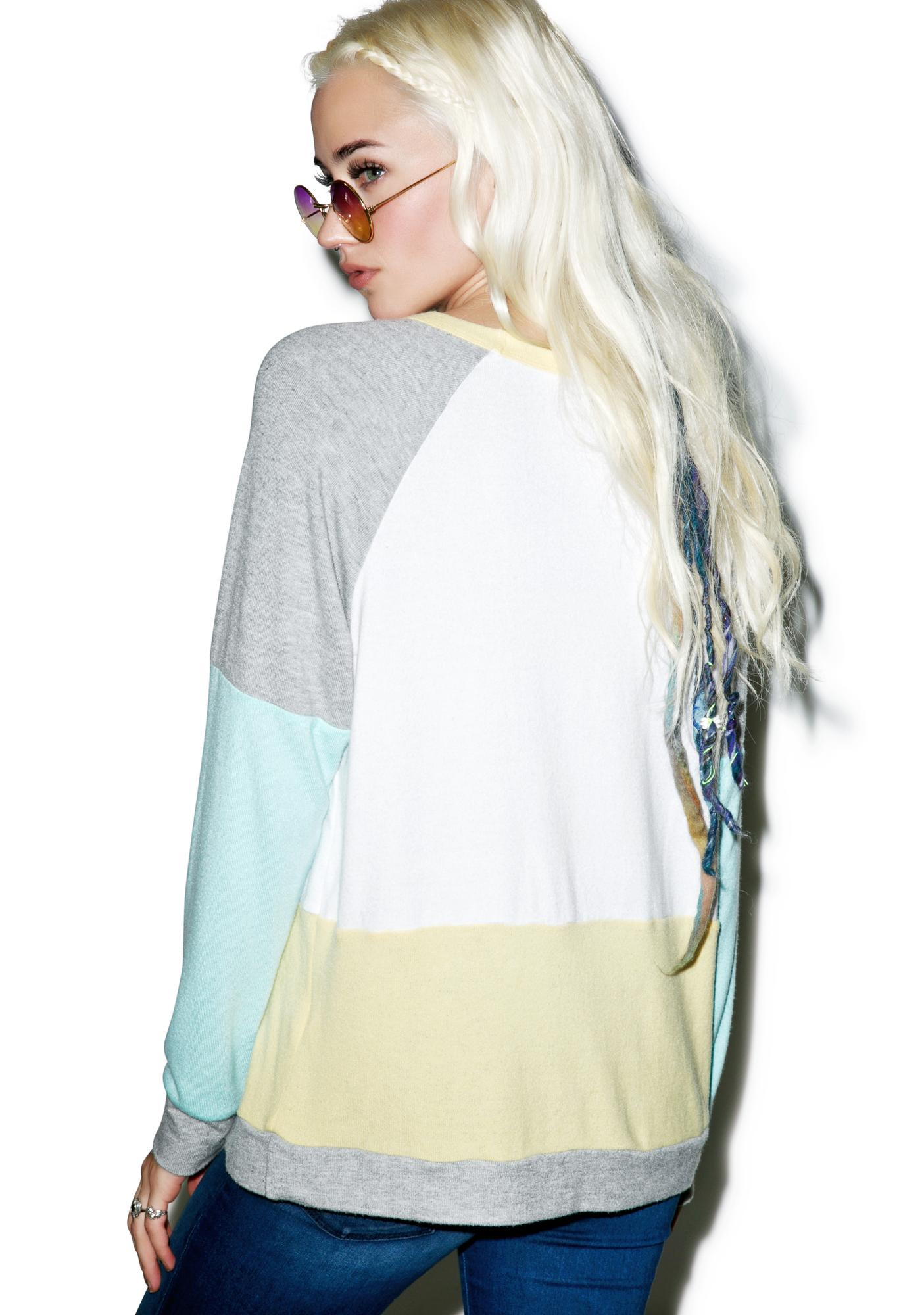 Lauren Moshi Color Block Vintage Pullover