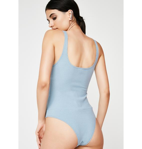On A Cloud Ribbed Bodysuit
