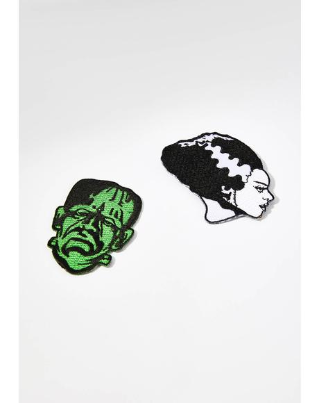 Frankenstein And Bride Patch Set