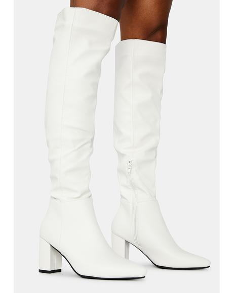 Fall For You Knee High Heeled Boots