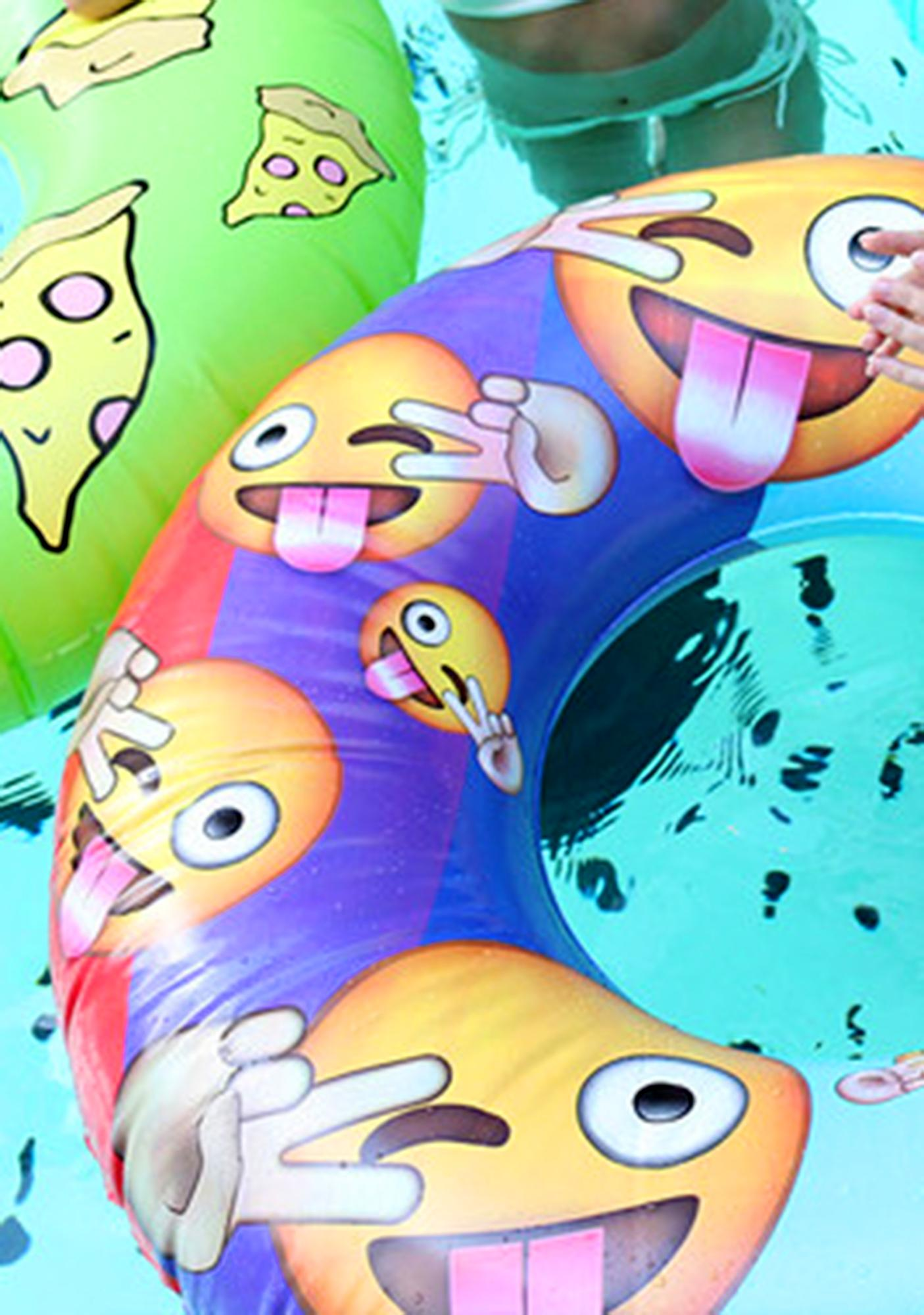 Gettin' Turnt Emoji Pool Float