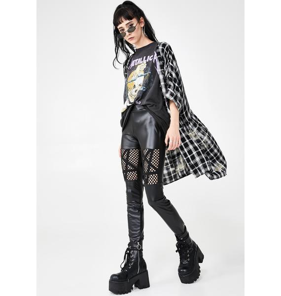 Killstar Witchnet Cut Out Leggings