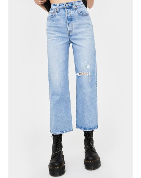 Ribcage Straight Leg Ankle Jeans