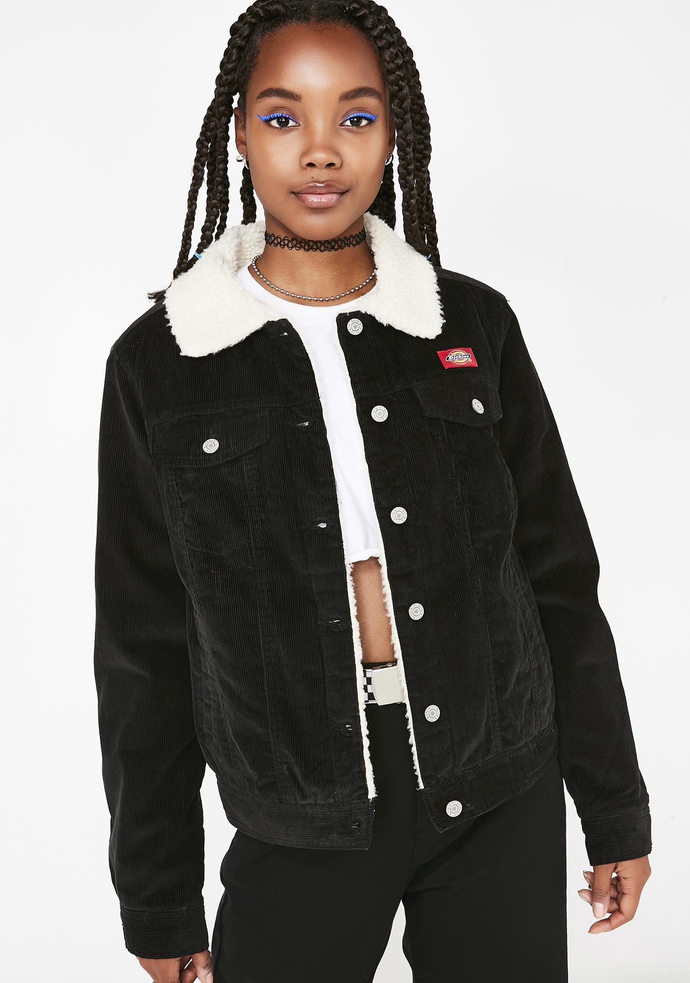 Dickies Girl Sherpa Lined Corduroy Jacket