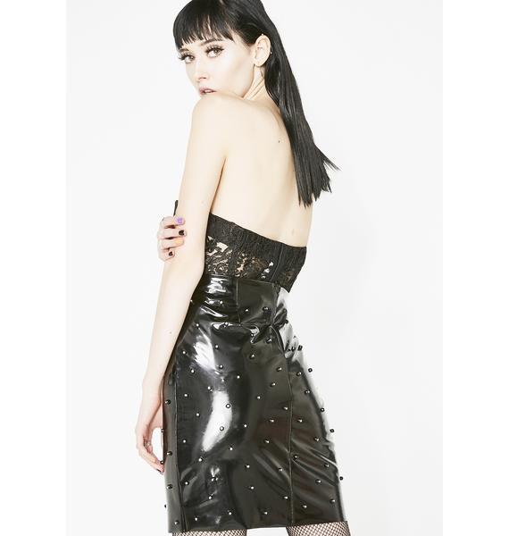Dark Star Studded Skirt