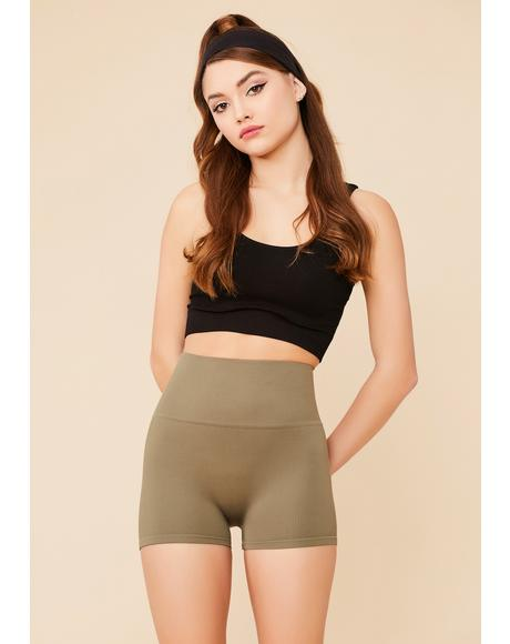 Army Hips Don't Lie Seamless Wide Band Biker Shorts