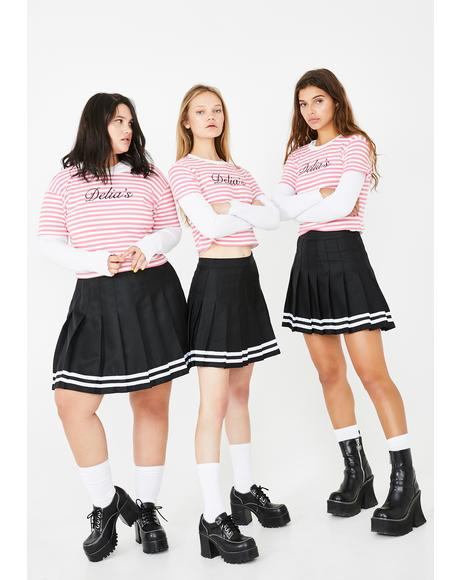 Your After School Sweetheart Striped Tee