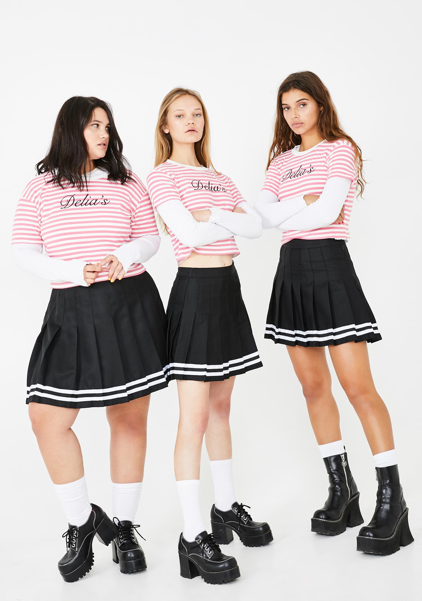 dELiA*s by Dolls Kill Your After School Sweetheart Striped Tee