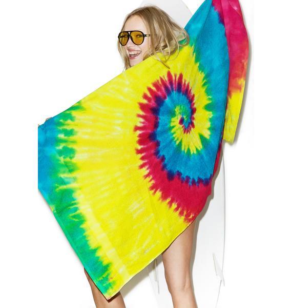 Reactive Rainbow Beach Towel