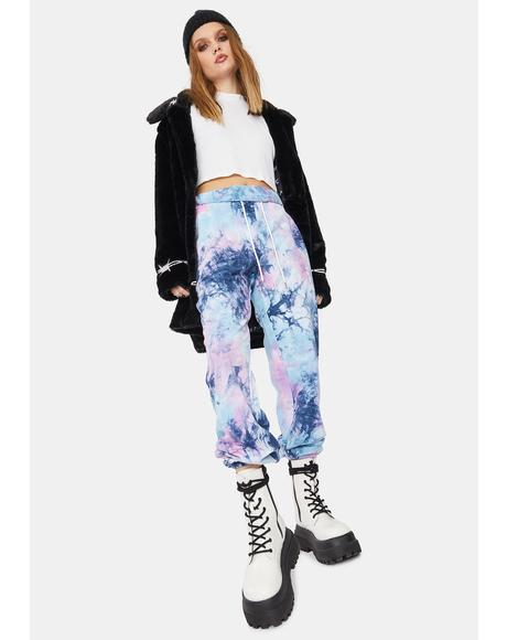 Platinum Tie Dye Authentic Track Pants