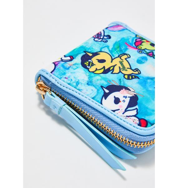 Tokidoki Watercolor Paradise Zip Around Wallet