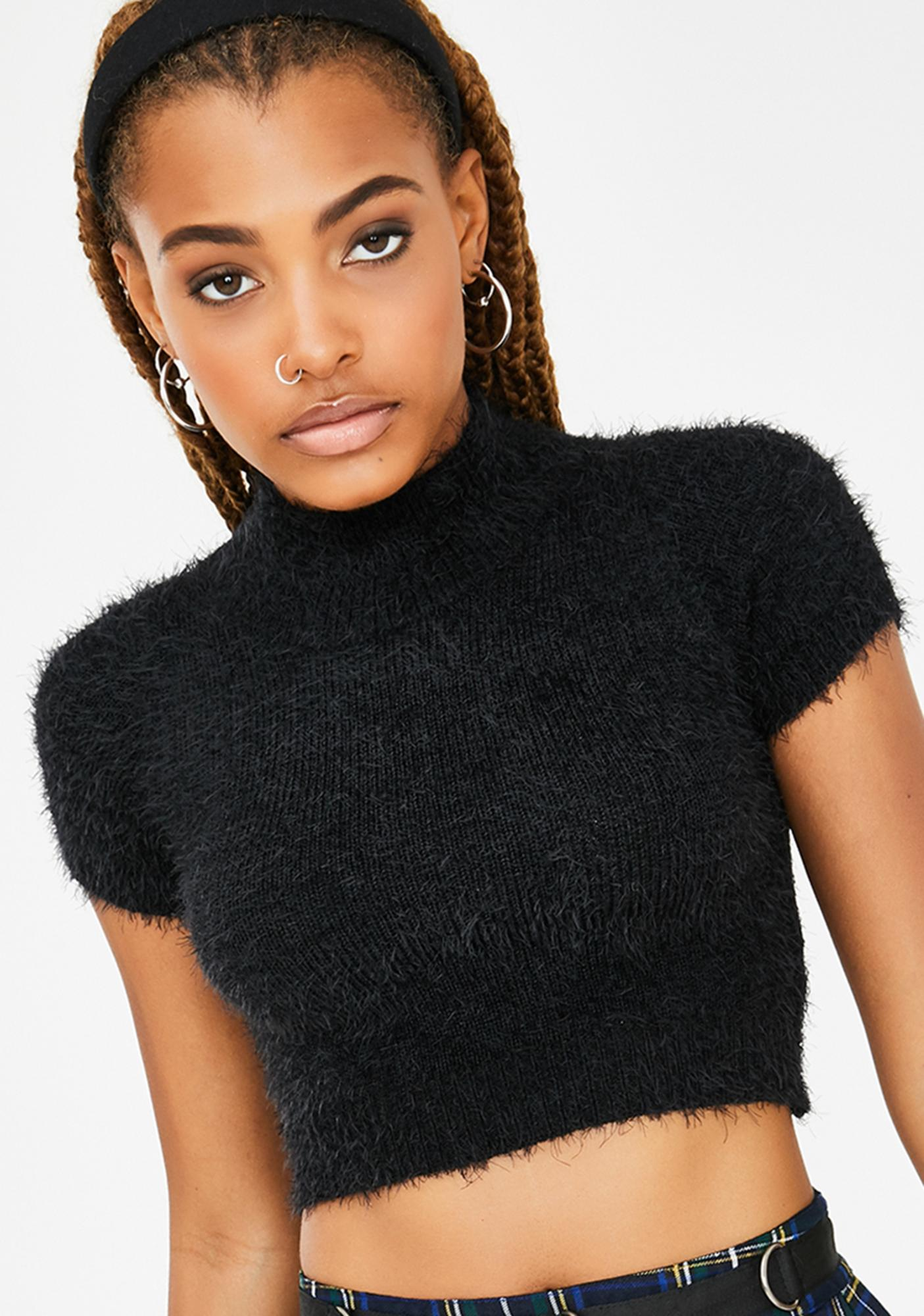 Current Mood The Come Up Crop Sweater