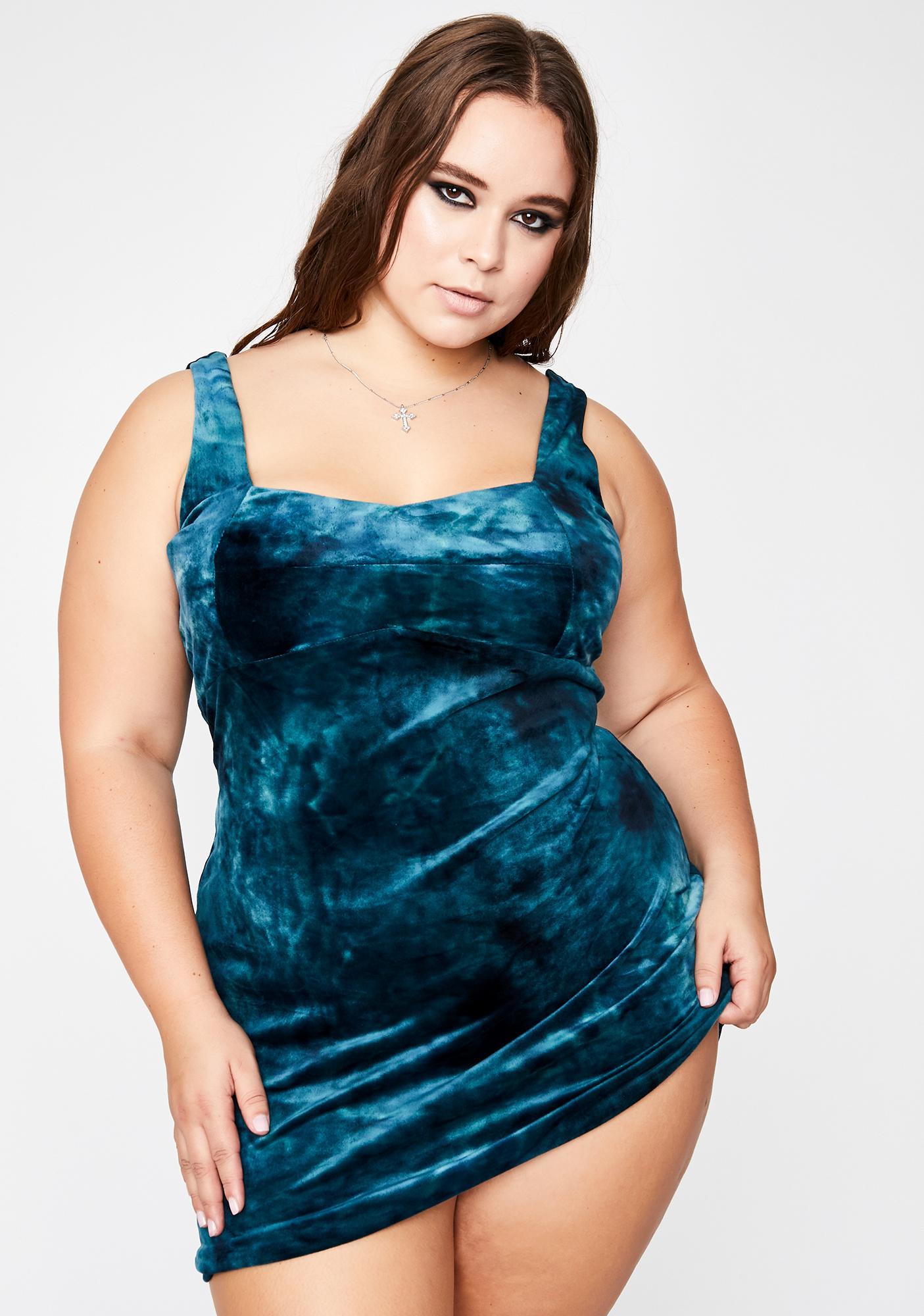 Sky Her Ruthless Temptations Velvet Dress