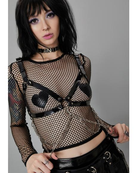 Pleasure Reaper Bondage Bra Harness