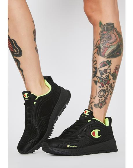 Flex 19 Black Neon Light Sneakers
