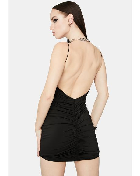 Camera Ready Ruched Bodycon Dress