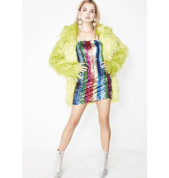 Rainbow Rays Sequin Dress