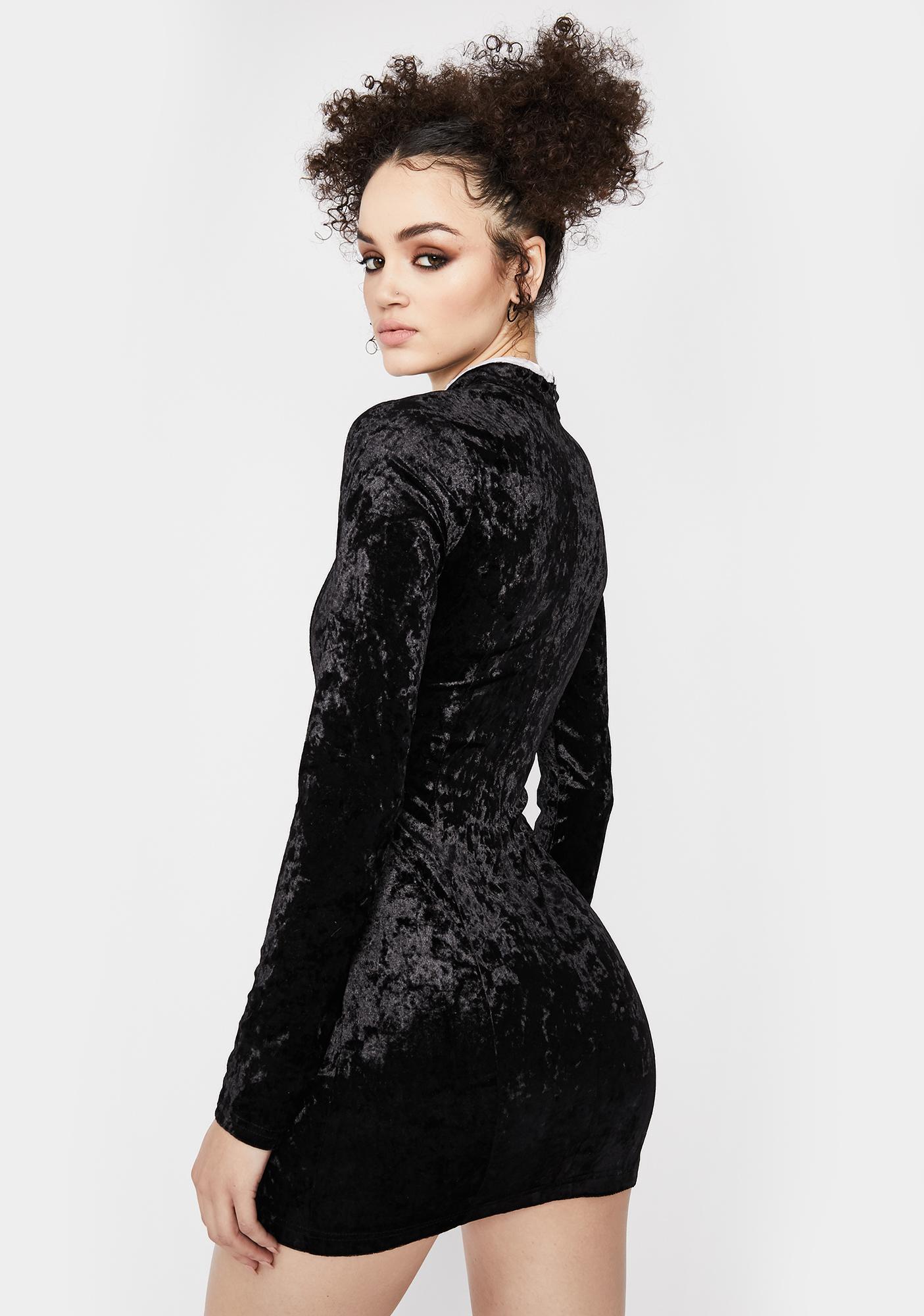 Dimensional Drip Velvet Dress