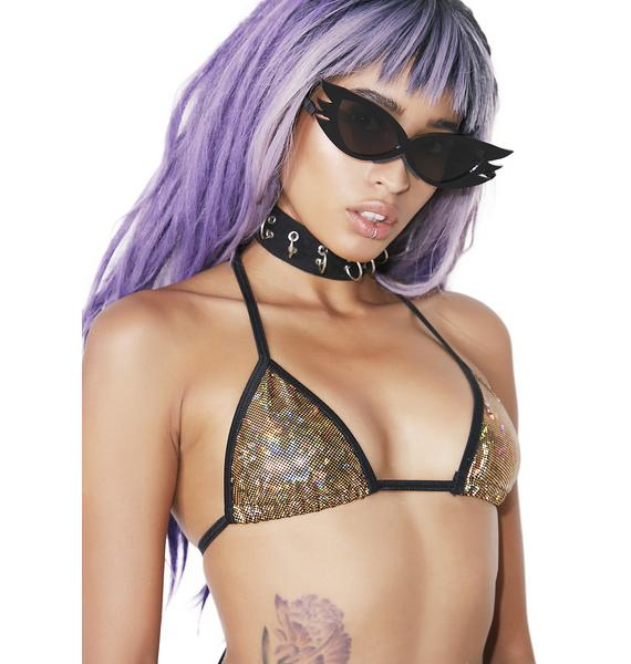 Club Exx Gilded FineShrine Bikini Top