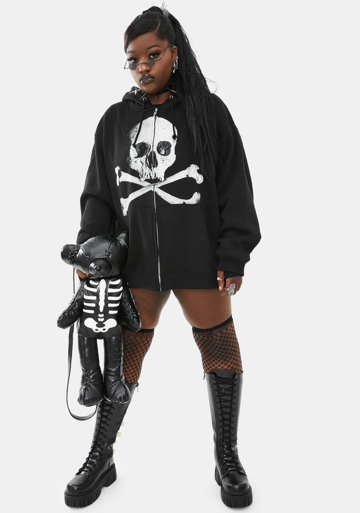 Dolls Kill Her Deadly Doom Zip-Up Hoodie