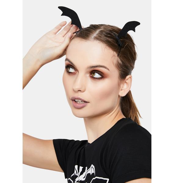 Wanna Hang Bat Hair Clips