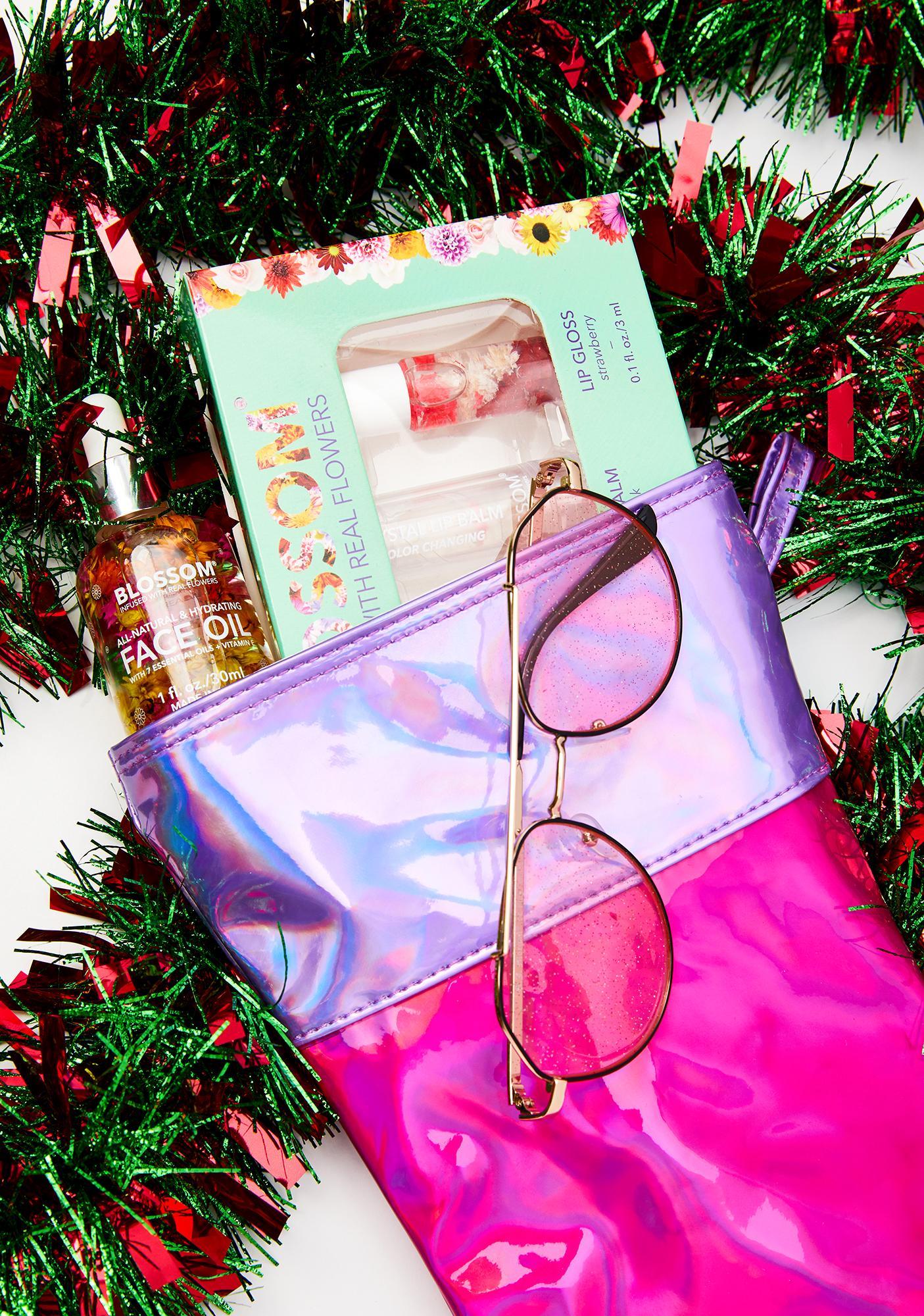 FYDELITY Holo Daze Laser Pink Disco Stocking