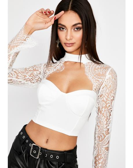 Pure Intentions Lace Crop Top