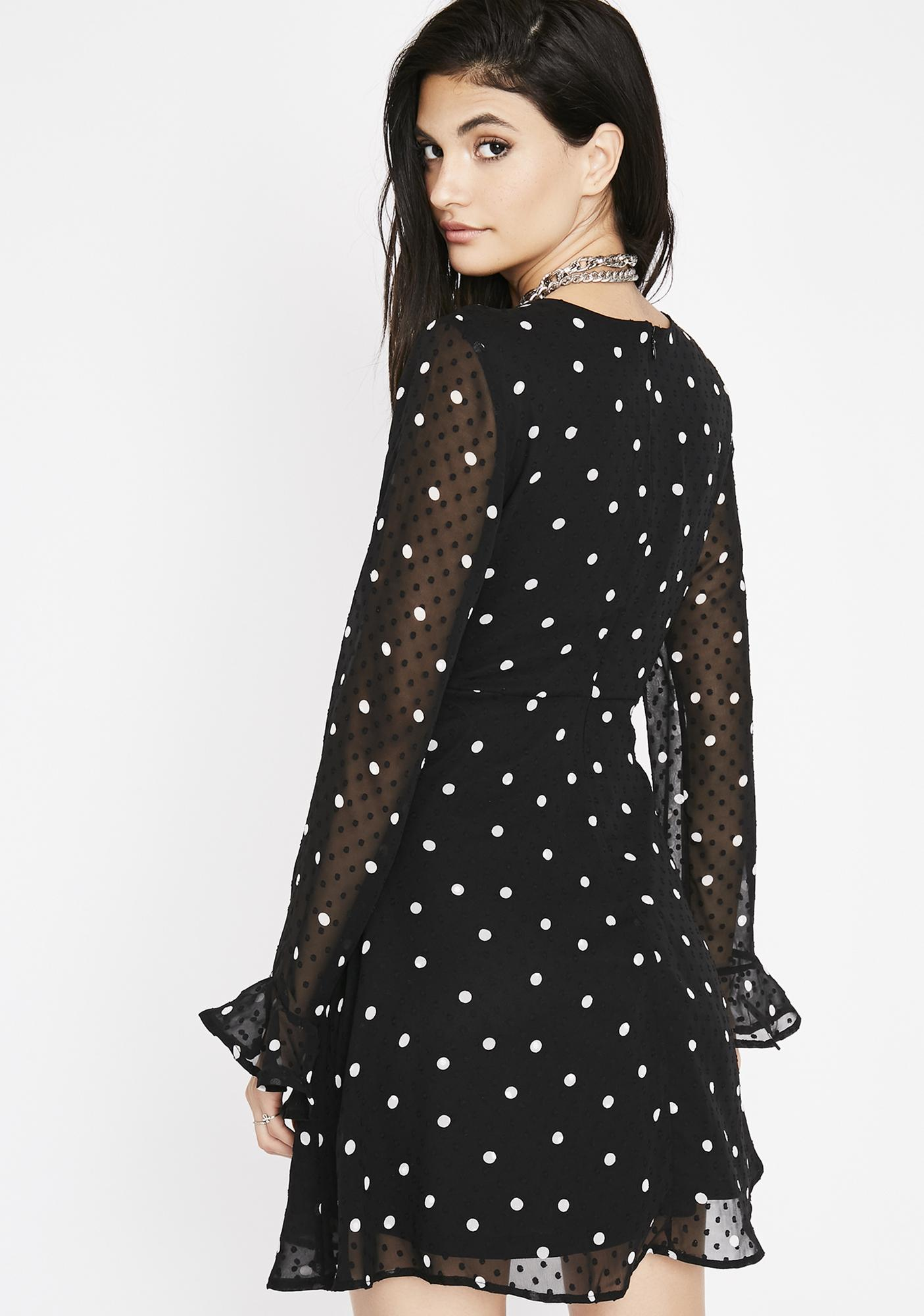 Center Stage Polka Dot Dress